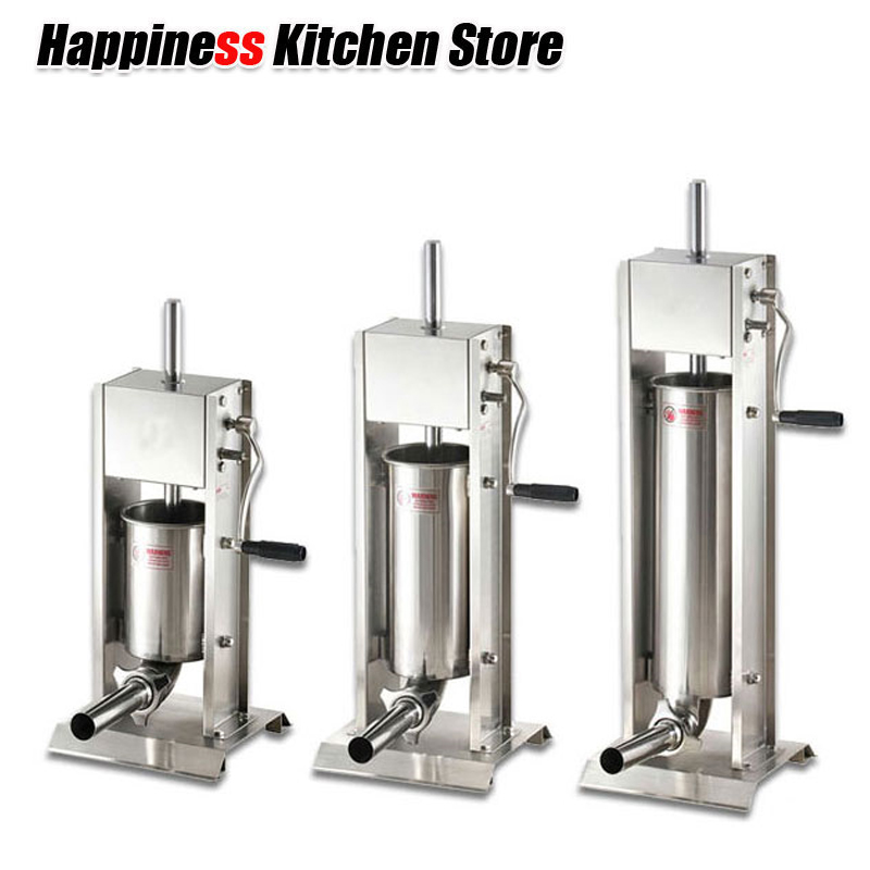 3L/5L/7L Sausage Filler Meat Filling Machine Manual Stuffer Commercial and Home Use 4 Size Funnel Kitchen Hot Dog Tools