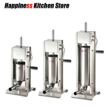 3L/5L/7L Sausage Filler Meat Filling Machine Manual Stuffer Commercial and Home Use 4 Size Sausage Funnel Kitchen Hot Dog Tools 2018 new arrival sausage stuffer 3l 5l 7l sausage filler meat filling machine manual stuffer commercial food processors