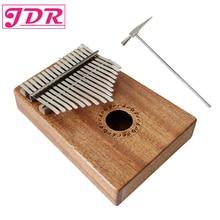 JDR 17 Kekunci Kunci Kalimba Mbira Sanza Thumb Piano Pocket Size Pemula yang Menyokong Beg Keyboard Keyboard Marimba Musical Instrument