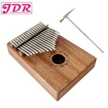 JDR 17 ключ палец калимба Mbira санза Thumb пианино карман размеры поддерживающая сумка Gecko клавиатура Marimba дерево музыкальный инструмент