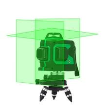 LETER 12 Lignes 3D Laser Niveau Auto-Nivellement 360 Horizontal Et Vertical Croix Super Puissant Faisceau Laser Ligne