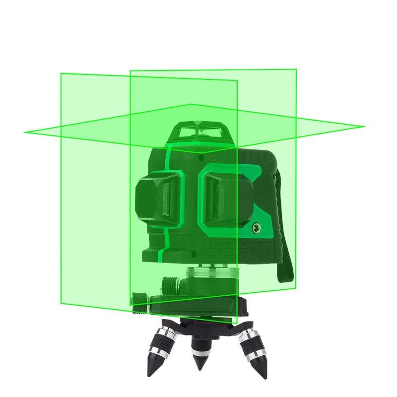 Leter 12 линий 3D лазерный уровень наливные 360 горизонтальный и вертикальный крест супер мощный лазерный луч линии