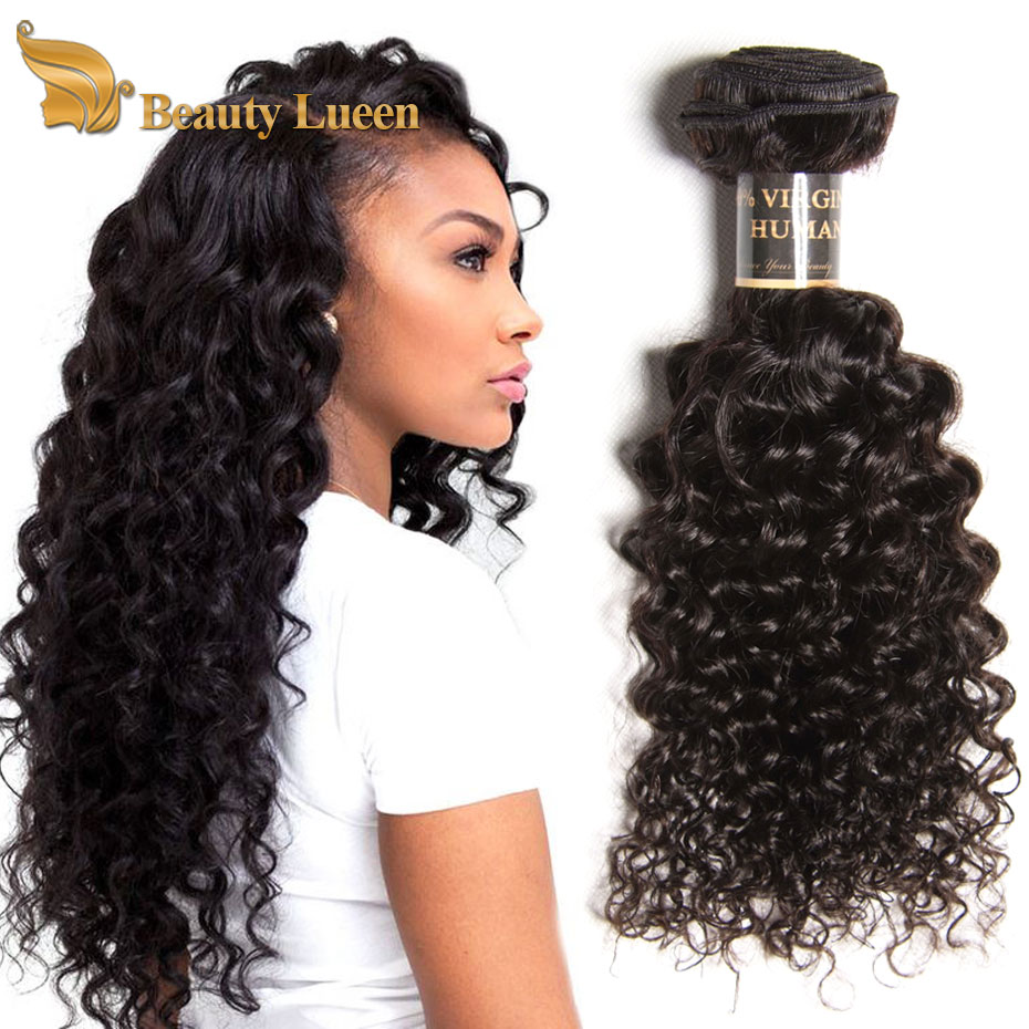 Beauty Lueen Hair Brazilian Kinky Curly Virgin 3 Bundle Deals For Black Woman Extensions No Splits