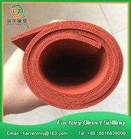 TOP Quality Silicone Foam Sheet 5mm Red Silicone Sponge Sheet Size 500x500x5mm Heat Transfer Rubber Matt