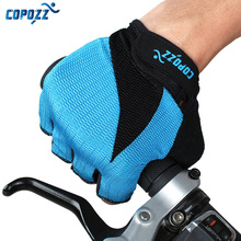 COPOZZ Cycling Gloves Half Finger Summer Bike Gloves Anti Slip Breathable Guantes Ciclismo MTB Mountain Men Sport Bicycle Gloves