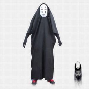 Image 1 - Kids / Adults Anime Movie Spirited Away No Face Man Cosplay Costume Full Set Halloween Costume Robe + Gloves + Black/Purple Mask