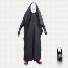 Kinderen/Volwassenen Anime Film Spirited Away Geen Gezicht Man Cosplay Kostuum Volledige Set Halloween Kostuum Robe + Handschoenen + zwart/Paars Masker