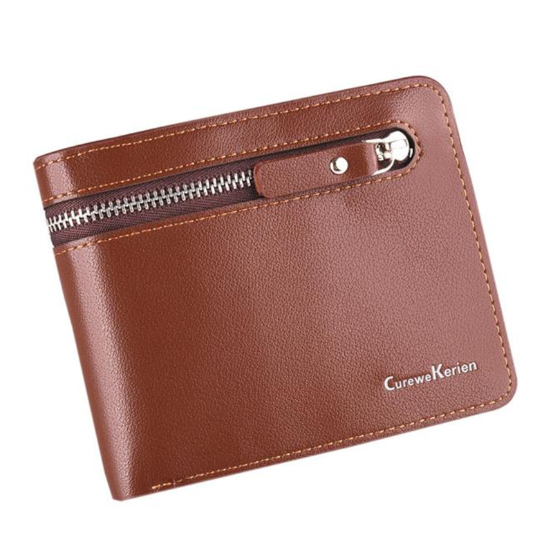 Men Wallets Leather Coin Purses Credit Card Holder Business Cash Receipt Organizer Bifold Wallet Mini Carteira Portefeuille Gift цена 2016