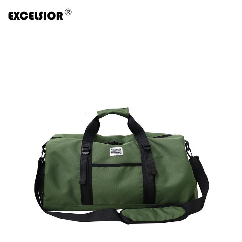 EXCELSIOR Nylon Travel Bag Large Capacity Men Hand Luggage Travel Bags Nylon Weekend Bag Women Multifunctional Travel Bag G2188