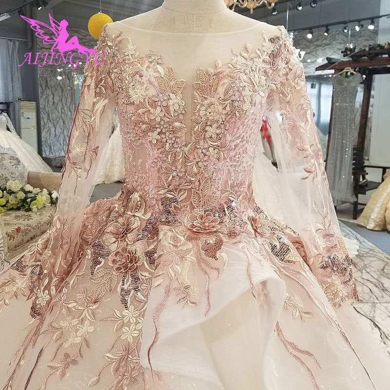 374d20cccb5ad AIJINGYU Wedding Dresses 2018 Lace Ball Beaded 2019 Robe Luxury Victorian  Vintage Gown Sew On Crystal Beads Wedding Dress