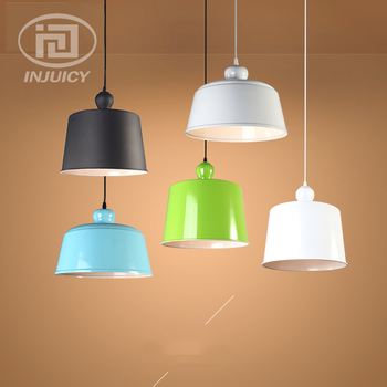 Nordic Loft American Aluminum Colourful Cover LED Droplight Restaurant Coffee Shop Clothing Store Hall Bedside Ceiling Lamp