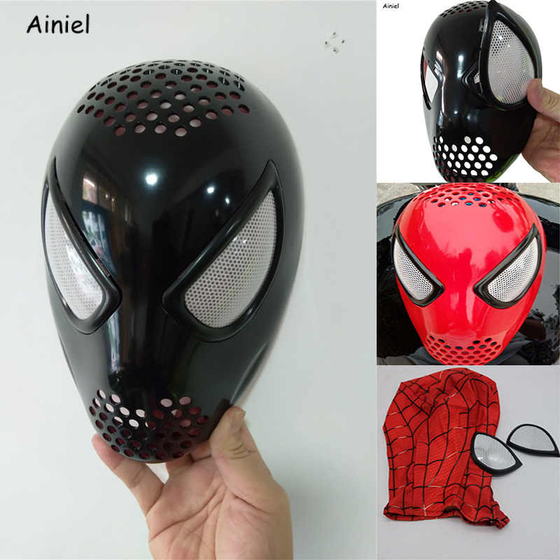 The Amazing Spider-Man Faceshell dengan Lensa Silikon 3D Topeng Spider Man Cosplay Halloween Super Hero Spiderman Masker Dewasa anak-anak