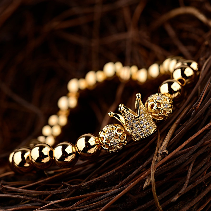 HTB1WWIAbfLsK1Rjy0Fbq6xSEXXaX - Gold Crown coupe bracelets 2pcs set