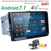 2GRAM 4G WIFI Android 7.1 Car DVD for VW Volkswagen SKODA GOLF 5 Golf 6 POLO PASSAT B7 T5 CC JETTA TIGUAN car gps stereo SWC DAB