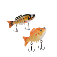 2pcs Fishing Wobblers Lifelike Fishing Lure 6 Segment Swimbait Crankbait Hard Bait Slow Isca Artificial Lures Fly Fishing Tackle