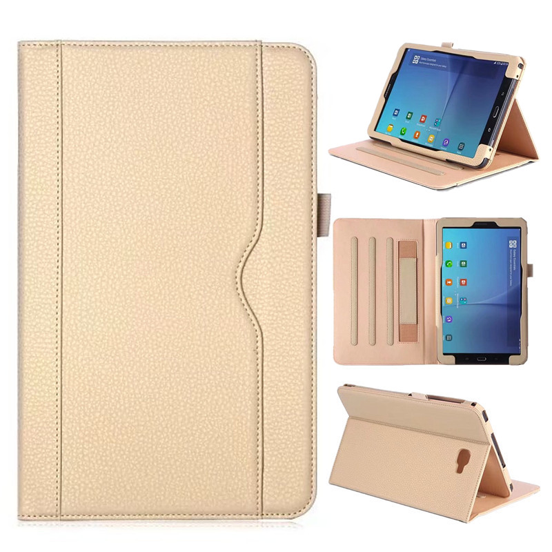 Luxury Flip PU Leather Case Cover for Samsung Galaxy Tab A 10.1 2016 T580 T585 T580N T585N Tablet Stand Cover with Card Slots  for samsung galaxy tab a a6 10 1 2016 t585 t580 t580n case girl bling butterfly pu leather book stand protective tablet cover
