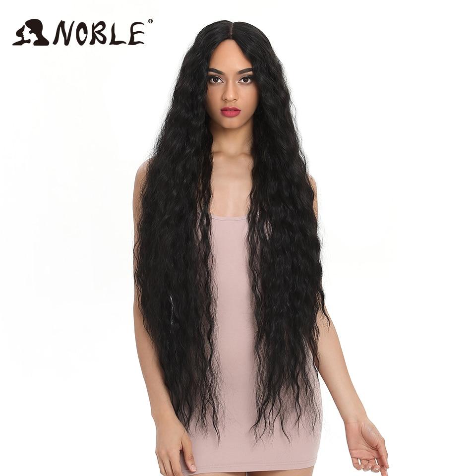 Nobre cabelo sintético perucas para preto feminino longo cabelo encaracolado 42 Polegada cosplay loira ombre peruca dianteira do laço sintético peruca dianteira do laço