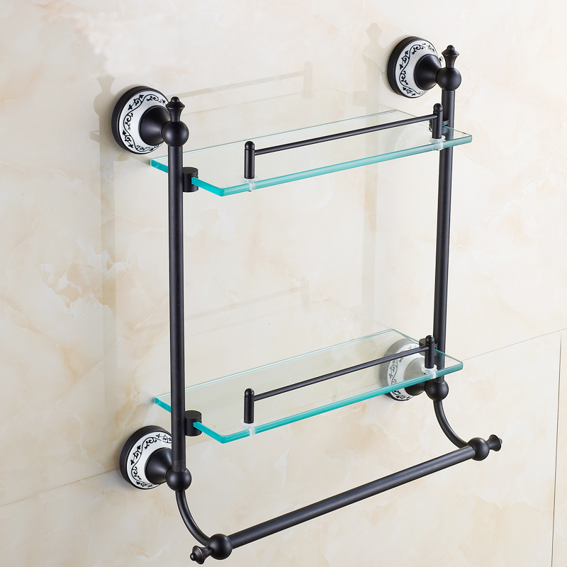 black glass bathroom shelf | My Web Value