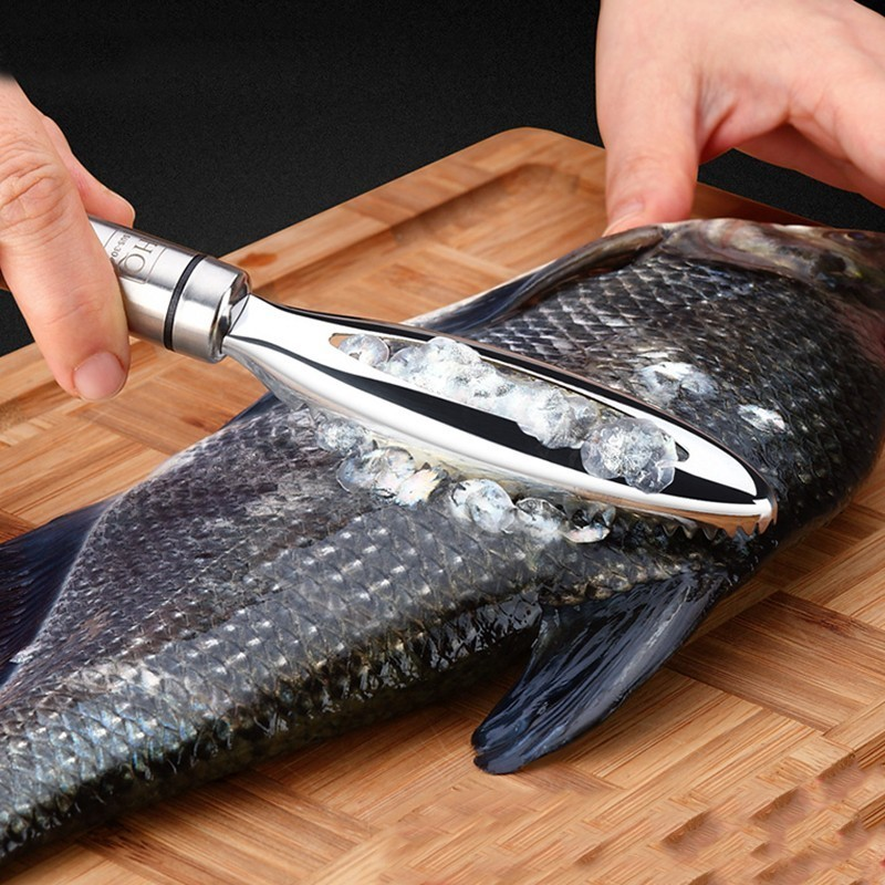 Stainless Fish Scales Scraping Graters Fast Remove Fish Cleaning Peeler Scraper Fish Bone Tweezers Kitchen Accessorie Tool Gadge