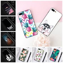 Adorável Cat & Dogs Padrão Casos Para iPhone XR XS Max 6 6 s 7 8 Plus X 10 Universo bonito Planeta Matte Tampa Traseira Para o iphone Capa XS(China)