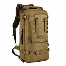 Large Capacity 50L Outdoors Shoulder Bags Men Rucksacks Travel Bags Tactics Waterproof Oxford Backpacks