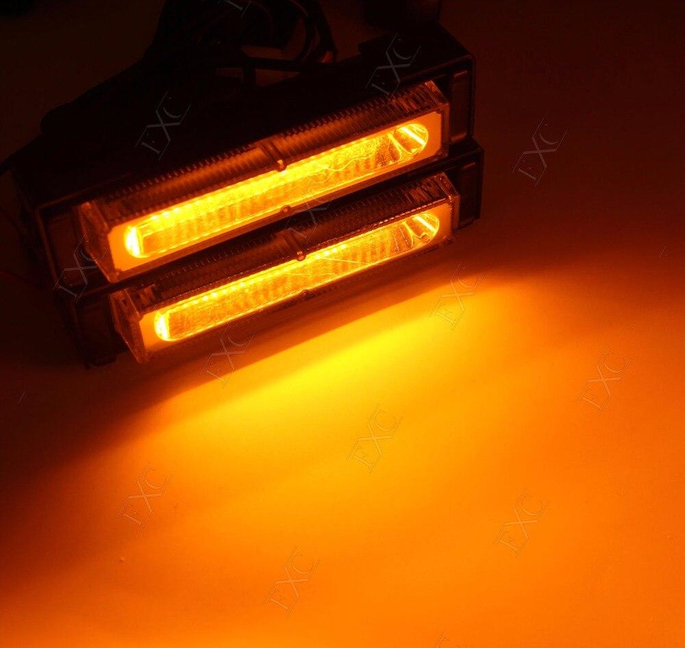 Amber 36W COB LED Flash Emergency Light Hazard Warning Strobe Beacon waterproof