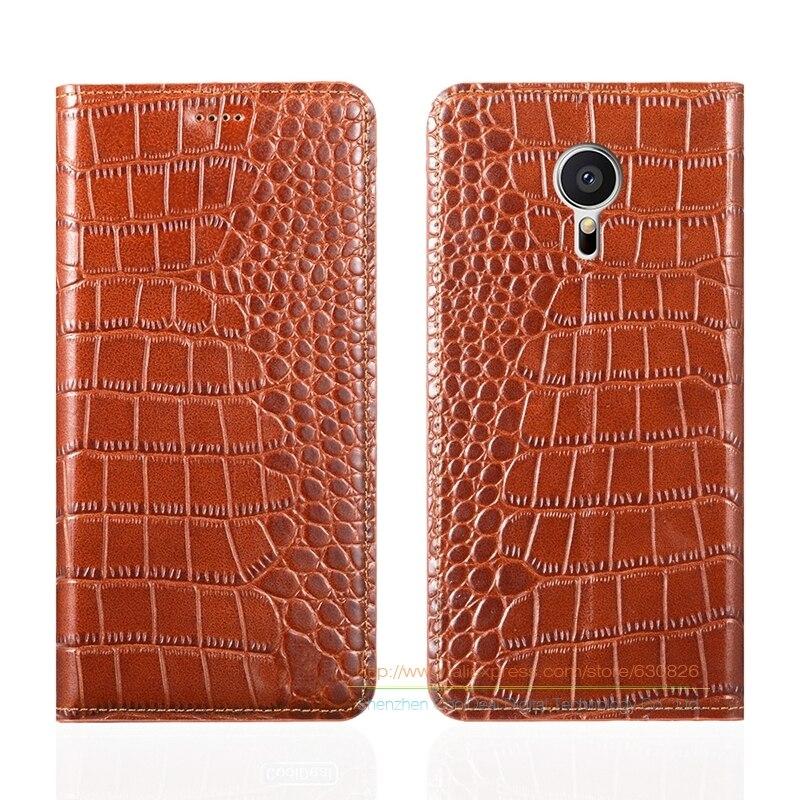 Crocodile Grain Genuine Leather Case For Meizu MX5 MX 5 5 5 Inch Luxury Phone Cover