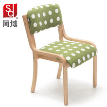 solid wood dining chair office chair simple curved wooden hotel bar Coffee chair heigh quality level Free shipping