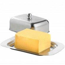 Контейнер для хранения из нержавеющей стали для сыра, масла, коробка для хранения фруктов, салата, обеденного подноса, удобная кухонная посуда для приготовления пищи, тарелки, 1 комплект