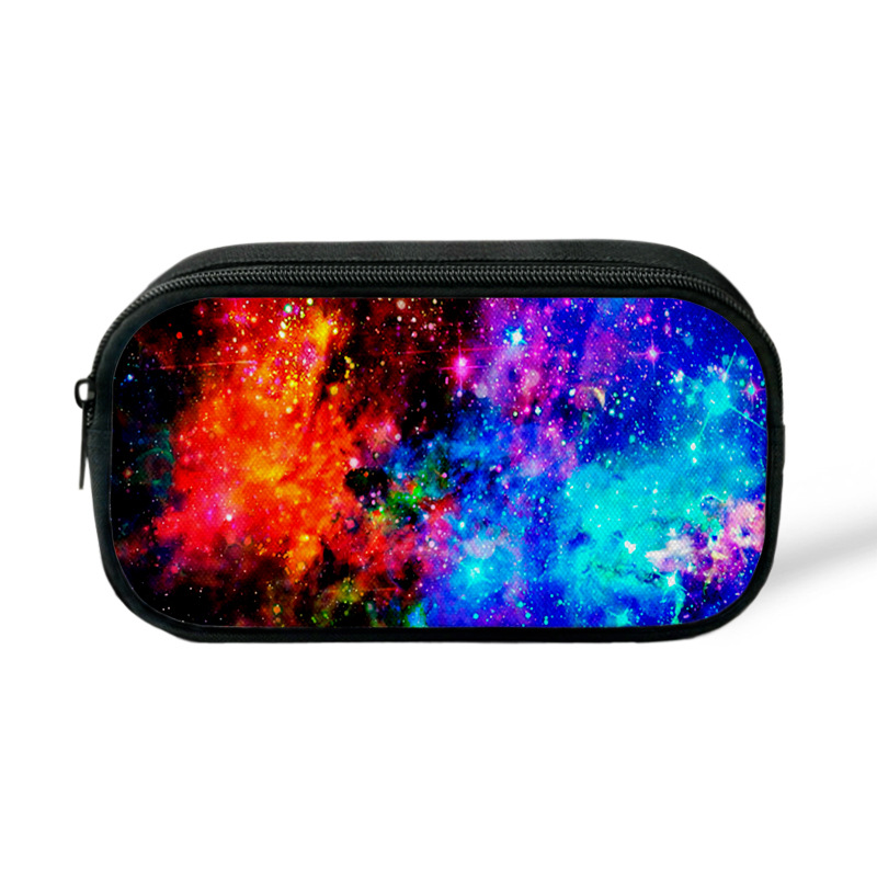 Originality Style Galaxy Star Printing Large Capacity Pen Bag Receiving Cosmetic Canvas Bag School Gift Stationery in Pencil Bags from Office School Supplies