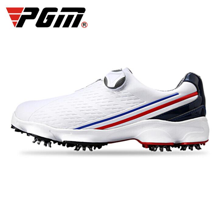 PGM Golf Shoes Men's Waterproof Breathable Sport Golf Shoes Double patent Rotating shoelaces Sports Shoes Antiskid Male Sneakers