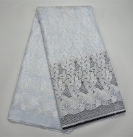 PR282-7!Hot Selling African Tulle Lace Fabric High Quality Best Swiss 100% Cotton Lace Fabrics For wedding dress
