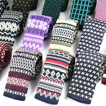 Mens Knit ties New Casual Skinny Knit Neckties For Wedding Evening Party Gravata Slim Tie for Man Knitted Neck Tie(China)