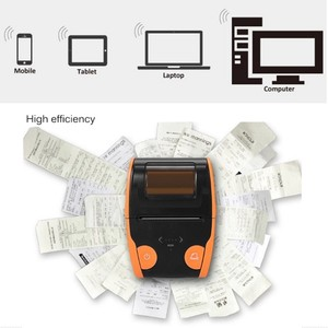 Image 4 - אנדרואיד IOS נייד תרמית תווית מדפסת מיני נייד 58mm ברקוד QR מדבקת נייר כיס Bluetooth מדפסת