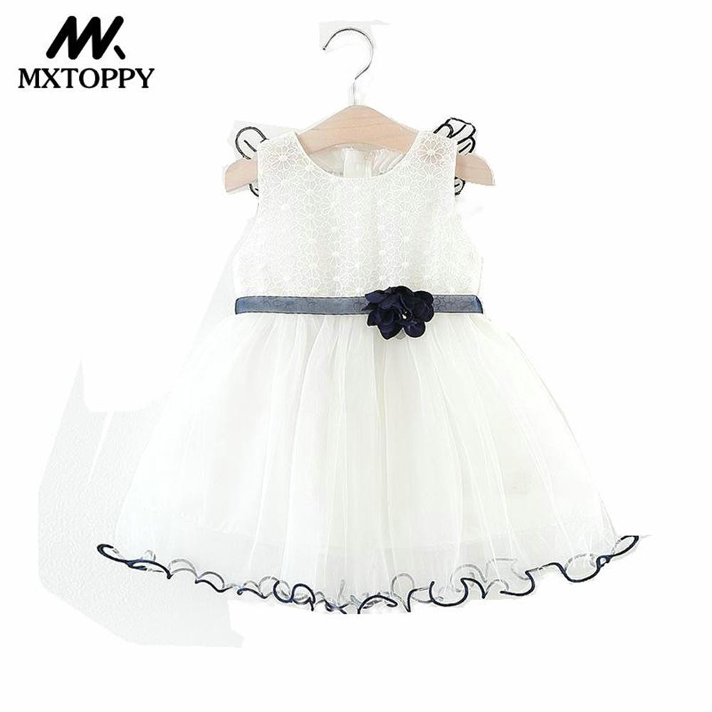 MXTOPPY Summer Baby Girls Clothes 2018 New Wing Design Mesh Baby Dress Sleeveless Infant Dress For Bebe