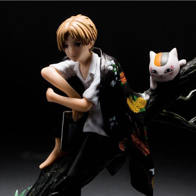 Anime Natsume Yuujinchou Natsume ami compte chat professeur Natsume Takashi une récompense assis sur la branche d'arbre scène boîte main