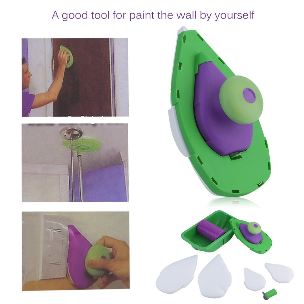 Household Painting Roller Sponge Painting Pad Set Painting Brush with Sponge Home Wall Decorative DIY Tools Drop Shipping sponge brush with handle