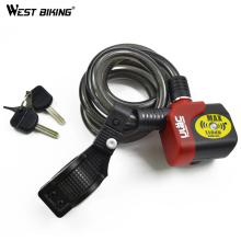 WEST BIKING AL-3P 110 DB Louder Electronic Bike Alarm MTB Bicycle Chain Security Lock