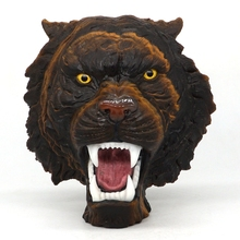Tiger Head Statue Shocking Beauty Natural Yellow Eye Carved Embed Home Decor 5