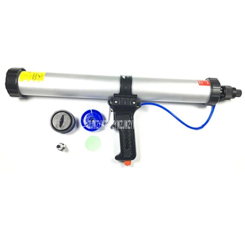 Nouveauté pistolet à colle pneumatique de Type saucisse 600 ML pour mastic à saucisse 600 ml + 9 bouche + 1 Film poussoir + 1 pièce respiratoire + 1 Piston