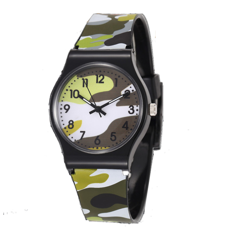 2019 Camouflage Military Children Watches Saats Kids Clock  Sport Rejores Boys Men Waterproof Relogio Hondinty Enfant Saats Gift