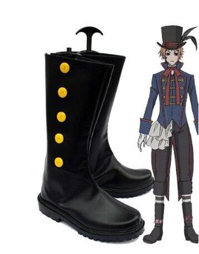 Black Butler Kuroshitsuji Кукла на чайник drocell caines Косплэй ботинки вечерние Косплэй шоу сапоги индивидуальный заказ для взрослых Мужская обувь