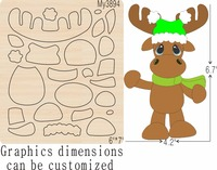 Sika deer new wooden mould cutting dies for scrapbooking Thickness 15.8mm