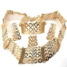F&Y Hot Boho Collar Necklace Jewelry Sets Fashion Nigerian Wedding Necklaces Bracelets Set Women Bijoux