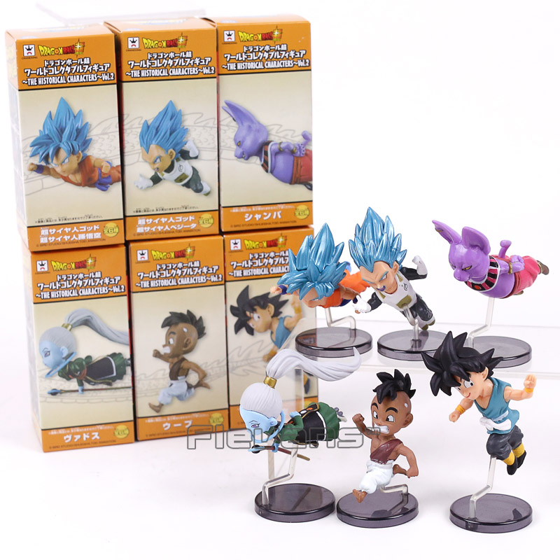 Dragon Ball Super vol.2 Flying Series Son Goku Vegeta Champa Whis PVC Figures Collectible Model Toys 6pcs/set inhuman vol 2 axis