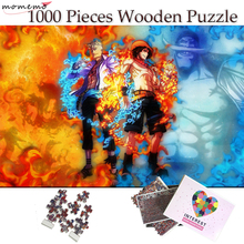 MOMEMO Burning Man Marco Ace Jigsaw Puzzles 1000 Pieces One Piece Anime Wooden Puzzle for Adults Teenagers Children Puzzle Toys puzzle therapist one a day sudoku for the utterly obsessed large print puzzles for adults