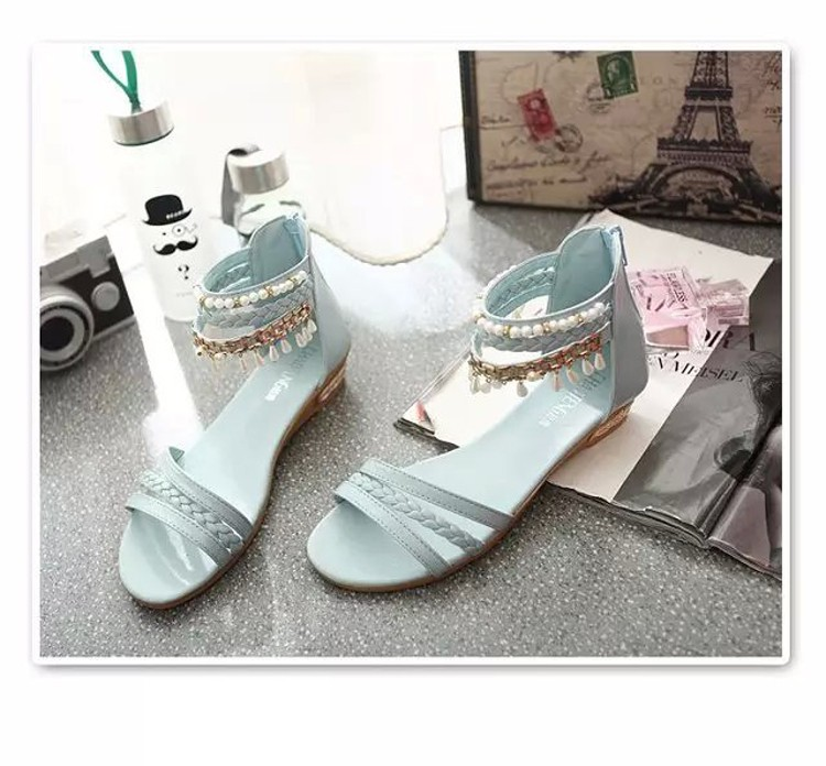 women sandals 2016 fashion Bohemia gladiator sandals women beading sandalias mujer wedges shoes for women 2016 new spring DT141 (15)