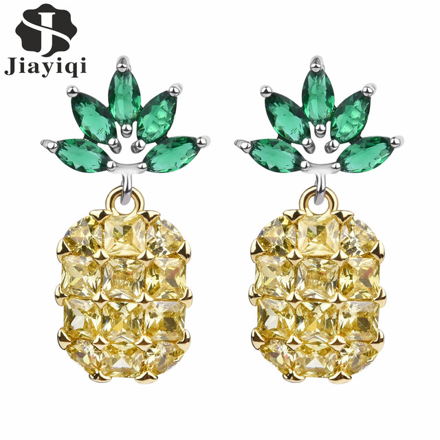 c3462af88 Hot Sale Earrings Studs High Quality 2 Colors Cubic Zirconia Stone Pineapple  Stud Earrings For Women Luxury Jewelry Gift 2017