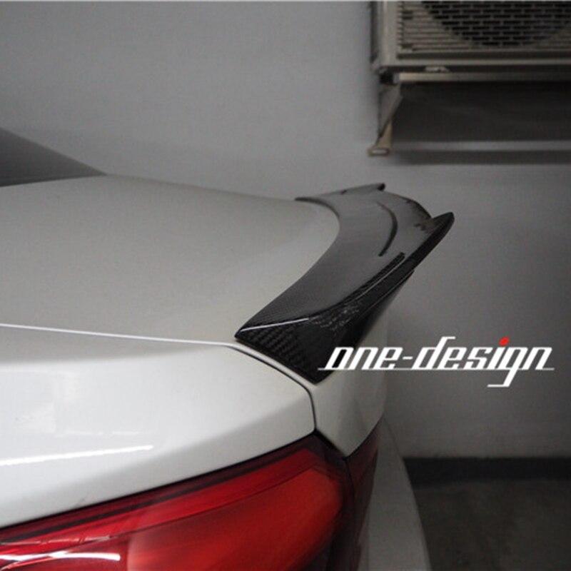 Aileron en Fiber de carbone aile personnalisée pour BMW G30 Spoiler série 5 530i 540i F90 M5 Base berline 4 portes 2017 2018 G30 Wing