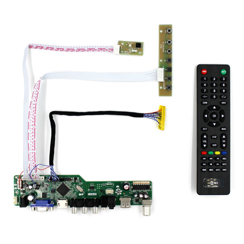 HDMI VGA DVI Audio Driver Board for 10.1inch 1024x600 HSD100IFW1 A101SW01 LCD